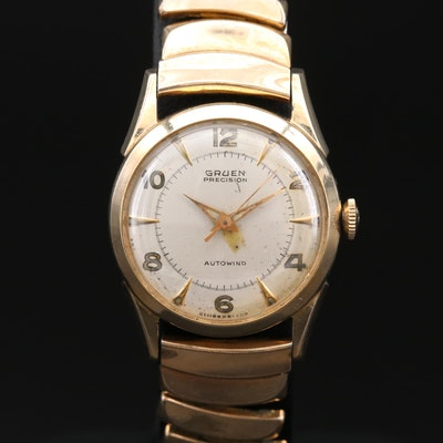 Vintage Gruen Precision Autowind 10K Gold Filled Wristwatch