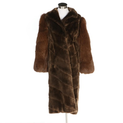 Sheared Beaver Fur and Fox Fur Coat from Creeds Furs of Toronto, Vintage