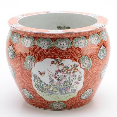 Chinese Porcelain Fishbowl Jardiniere