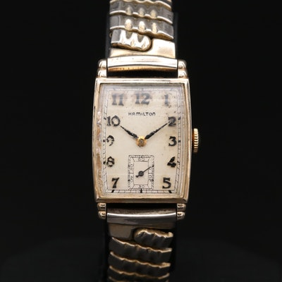 Vintage Hamilton Myron 10K Gold Filled Stem Wind Wristwatch, 1949
