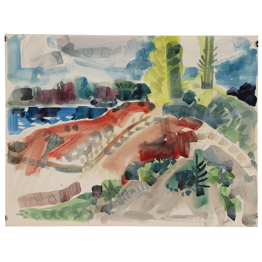 Jack Meanwell Abstract Watercolor Painting