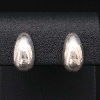 Barra Sterling Silver Teardrop Clip-On Earrings