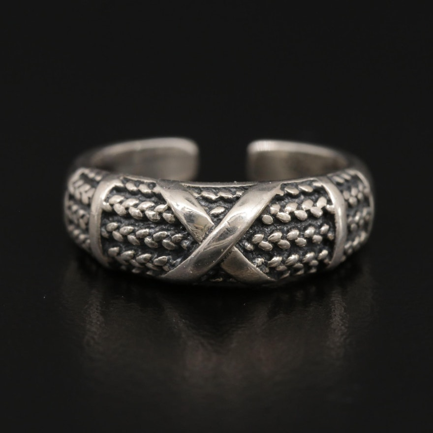 Sterling Silver Ring with Braided Design