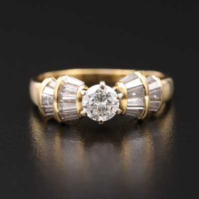 18K Gold 1.18 CTW Diamond Ring