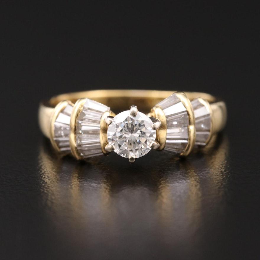 18K Gold 1.18 CTW Diamond Ring