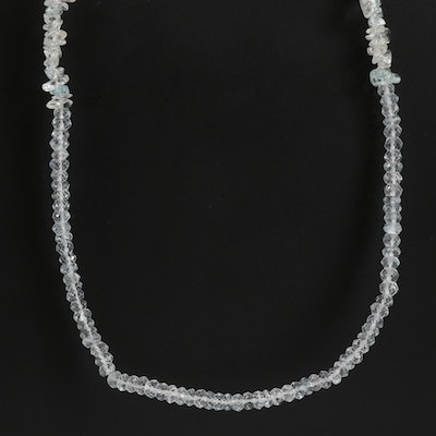 Topaz and Aquamarine Beaded Necklace