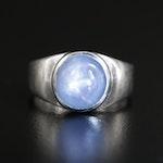 Platinum 7.54 CT Star Sapphire Ring
