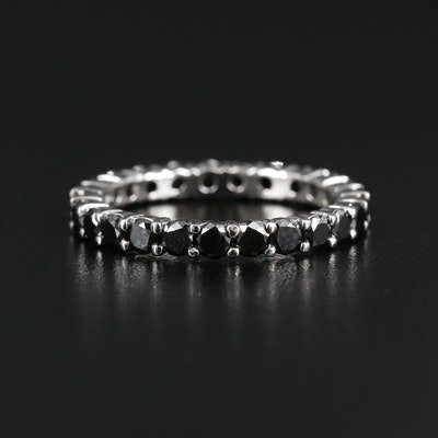 Platinum 2.37 CTW Black Diamond Eternity Band