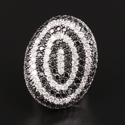 Spinel and Cubic Zirconia Statement Ring