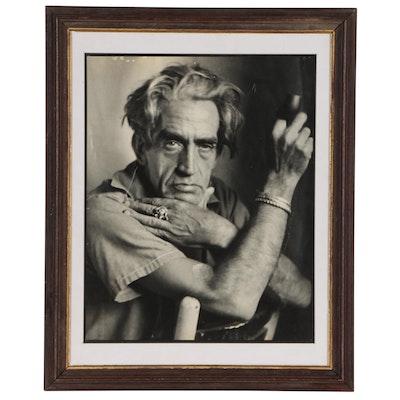 Portrait of Julio de Diego Silver Gelatin Photograph