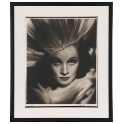 """George Hurrell Silver Gelatin Photograph """"Marlene Dietrich, 1933"""""""