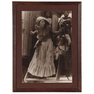 """Agustín Victor Casasola Silver Gelatin Photograph """"Adelita, 1910"""""""