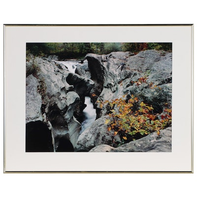"Nick Zungoli Chromogenic Color Photograph ""Rocky Cascade"""