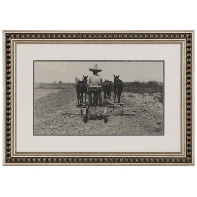 """Tina Modotti Silver Gelatin Photograph """"Mexican Ploughman"""""""