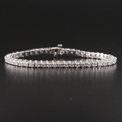14K White Gold 4.50 CTW Diamond Line Bracelet