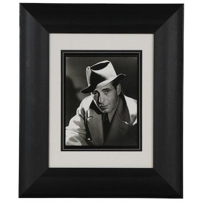"George Hurrell Silver Gelatin Photograph ""Humphrey Bogart"""