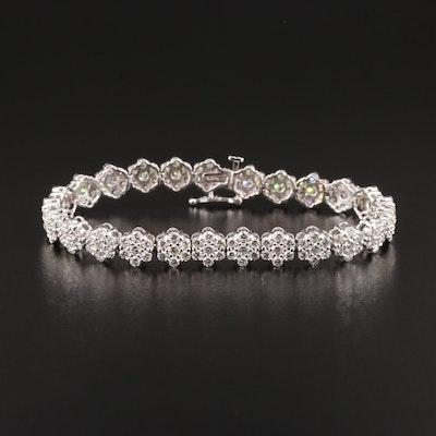 14K Gold 8.49 CTW Diamond Bracelet