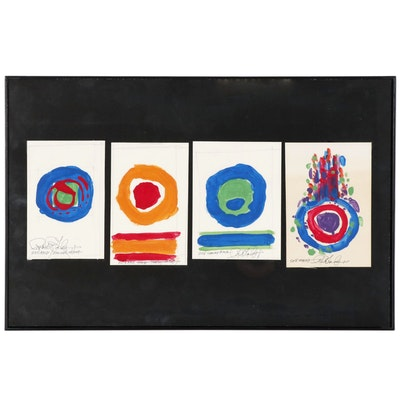 Robert Lackney Gouache Painting Studies, 2018