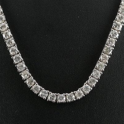 14K Gold 32.74 CTW Diamond Riviera Necklace