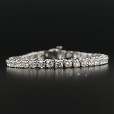 14K White Gold 9.21 CTW Diamond Line Bracelet