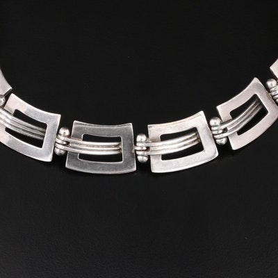 Vintage Taxco Mexican Sterling Collar