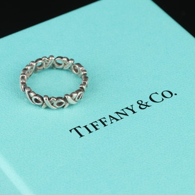"Paloma Picasso for Tiffany & Co. ""Love and Kisses"" Sterling Ring"