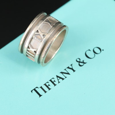 "Tiffany & Co. ""Atlas"" Sterling Silver Band Ring"