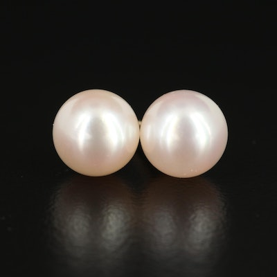 Mikimoto 18K Gold Pearl Stud Earrings