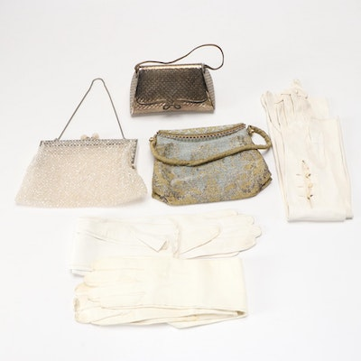 Evening Bags and Leather Gloves Including Walborg, Vintage