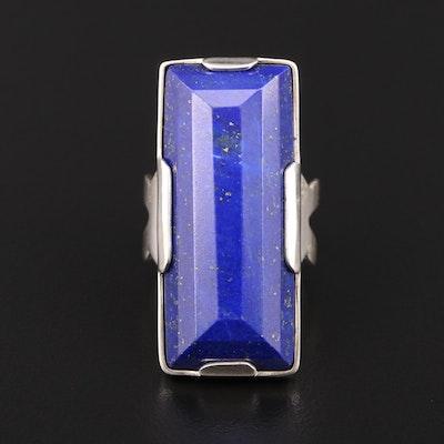 Sterling Silver Lapis Lazuli Pointer Ring