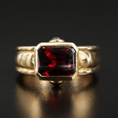Dorit Ramot 18K Yellow Gold Garnet Ring