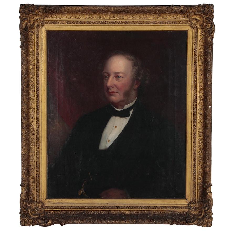 European School Portrait Oil Painting, Early 19th Century