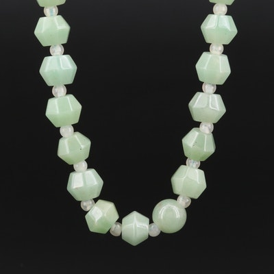 Aventurine and Glass Beaded Necklace