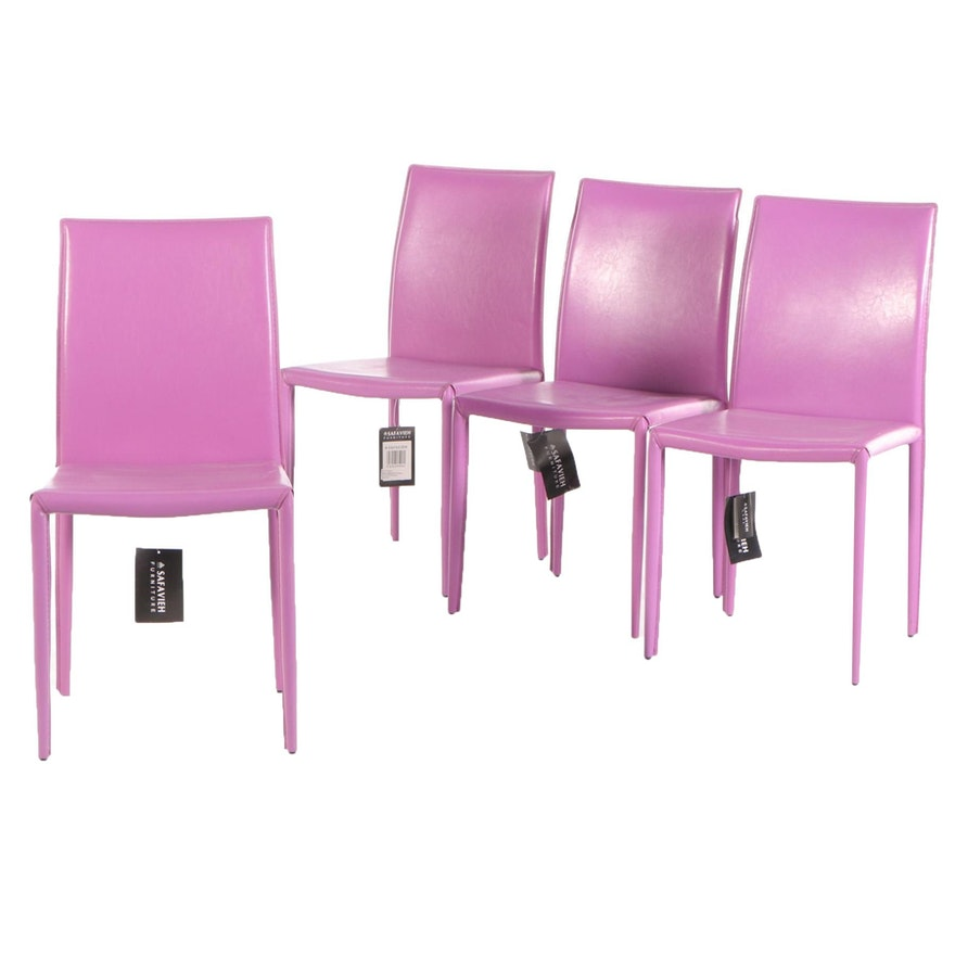 Safavieh Karna Vinyl Upholstered Dining Chairs