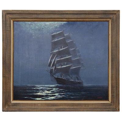 Joseph Ryan Corish Nautical Oil Painting