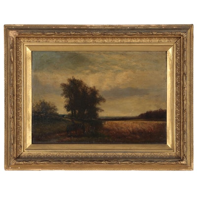 Tonalist Landscape Oil Painting, Late 19th Century