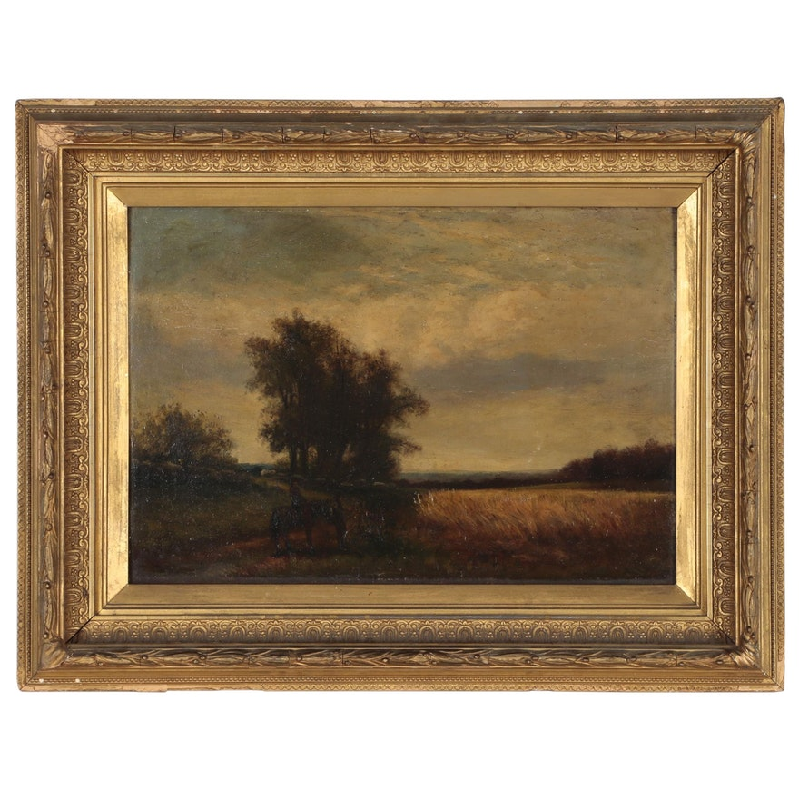 Tonalist Landscape Oil Painting, Late 19th Century