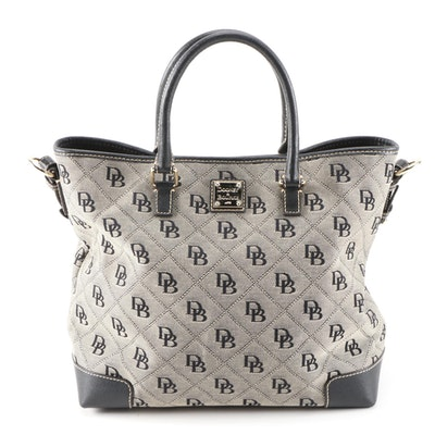 Dooney & Bourke Chelsea Tote in Signature Canvas with Cross Grain Leather Trim