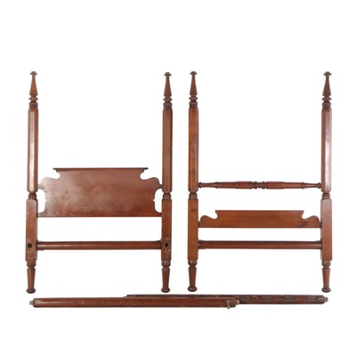 American Four-Post Bed Frame, Mid-19th Century