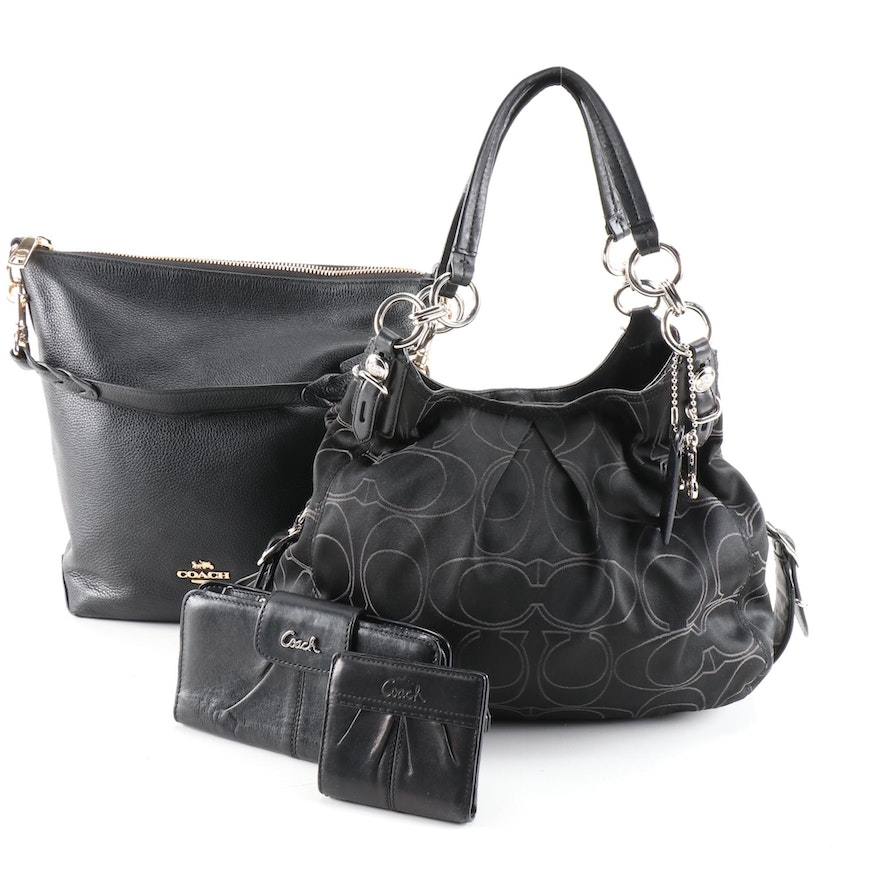 Coach Abby Duffle Bag, Mia Outline Signature Maggie Bag and Leather Wallets