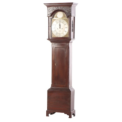 George III Mahogany Grandfather Clock, Late 18th / Early 19th Century