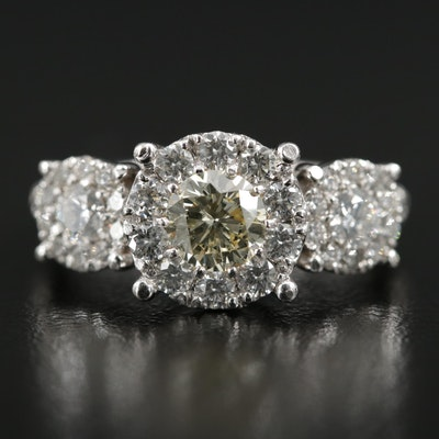 10K White Gold 1.90 CTW Diamond Ring