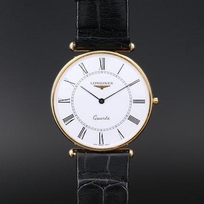 Longines La Grande Classique 18K Yellow Gold Quartz Wristwatch, Circa 1993