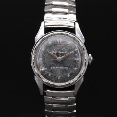 Vintage Bulova Stainless Steel Automatic Wristwatch