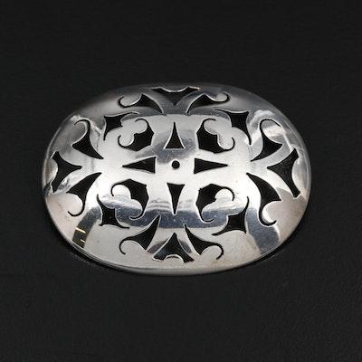 Sterling Silver Overlay Converter Brooch