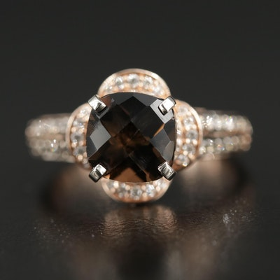 Le Vian 14K Rose Gold Smoky Quartz and Diamond Ring