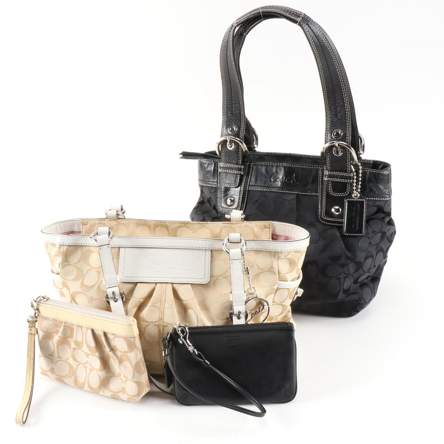 Coach Pleated Gallery and Soho Canvas Totes, Pouches and Leather Card Wallet