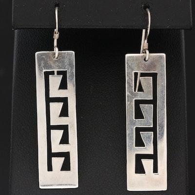 Sterling Geometric Dangle Earrings