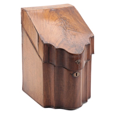 George III Mahogany Knife Box, Early 19th Century