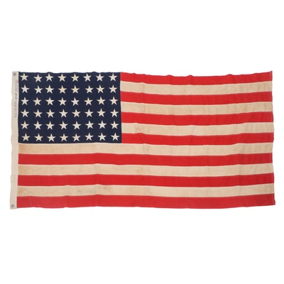 """48 Star American Flag """"Veteran's Admin."""""""